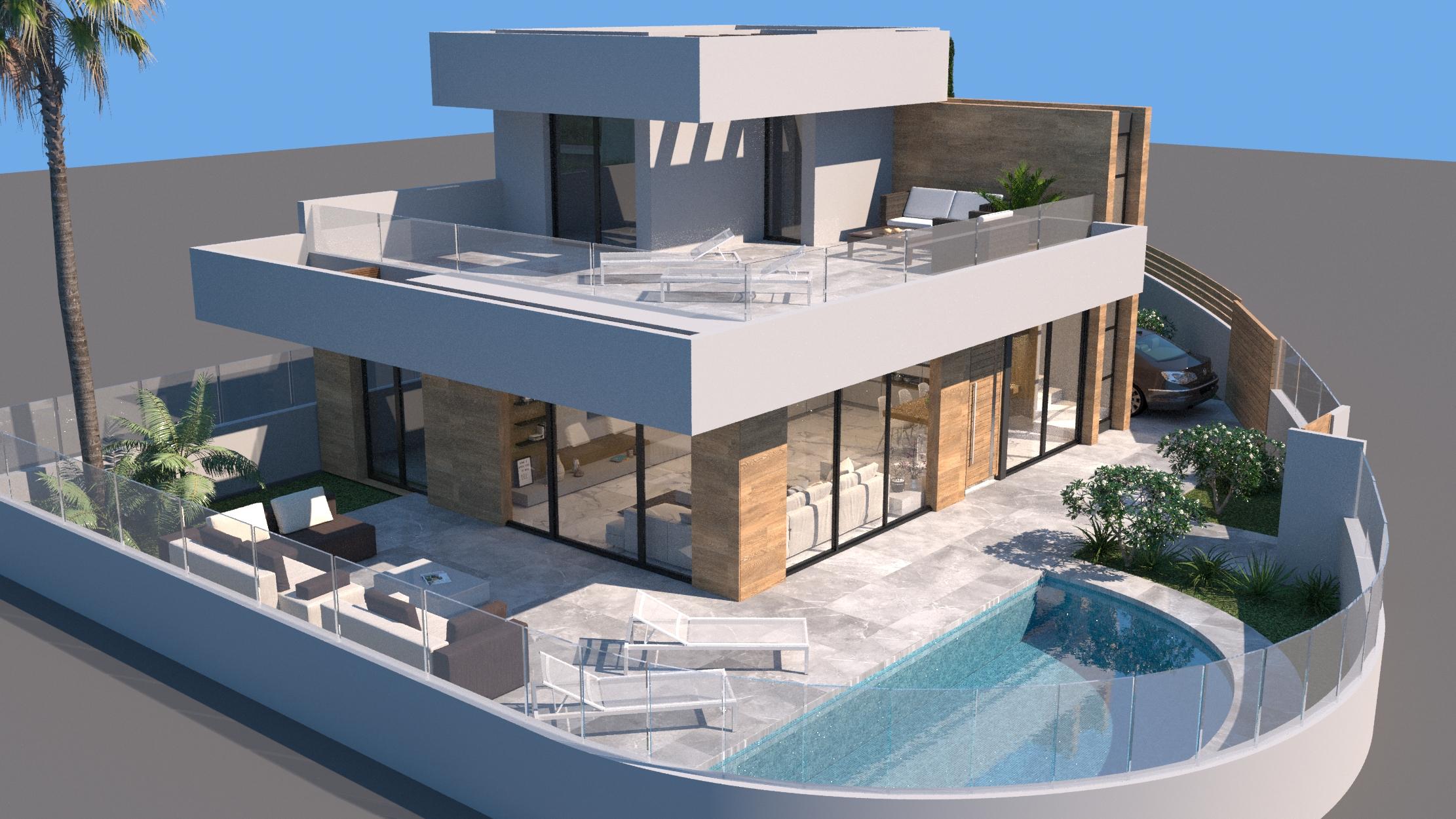 Villa met uitzicht op de golfbaan / Rojales